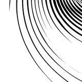 Abstract spirally, swirl element. Geometric spirals. Twisted sha Stock Images