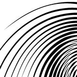 Abstract spirally, swirl element. Geometric spirals. Twisted sha Royalty Free Stock Photography