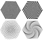 Abstract spirally, swirl element. Geometric spirals. Twisted sha Royalty Free Stock Images