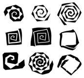 Abstract spirally, swirl element. Geometric spirals. Twisted sha Stock Photos