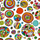 Abstract spirals and circles, seamless pattern for your design Royalty Free Stock Photography