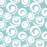 Abstract spirals seamless pattern. Vector seamless pattern background with hand painted textured spirals in white and light seagreen vector illustration