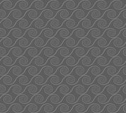 Abstract spirals. vector seamless pattern. Gray background Royalty Free Stock Photography