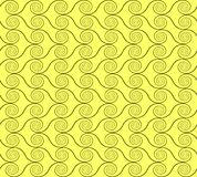 Abstract spirals. vector seamless pattern. Green and yellow background Stock Image