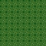 Abstract spirals. vector seamless pattern. Green and yellow background Royalty Free Stock Photos