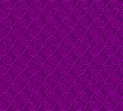 Abstract spirals. vector seamless pattern. Purple background Stock Photos