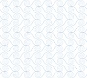 Abstract spirals. vector seamless pattern. White background Royalty Free Stock Image