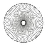 Abstract spirograph element. Isolated  on white background Royalty Free Stock Photo