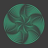 Abstract spirographelement Vectorspirograph Stock Foto
