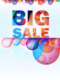 Abstract splash Big Sale card. + EPS10 Royalty Free Stock Image