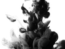 Abstract splash of black paint Royalty Free Stock Image