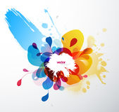Abstract splash illustration wallpaper. Royalty Free Stock Photo