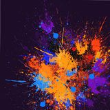Abstract Splash Painting. Is a Acrylic on Canvas painting Royalty Free Stock Photo
