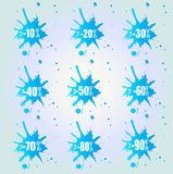 Abstract Splash Sale Background Stock Photos