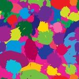Abstract splash spot seamless pattern. Spot multicolor blots bac. Abstract splash spot seamless pattern. Dot brush multicolor background Stock Photo
