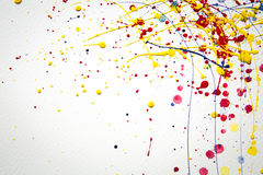 Abstract Splash watercolor background Stock Photos