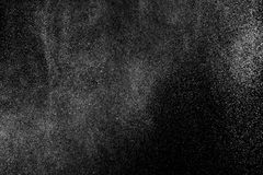 Abstract splashes of water on black background. Royalty Free Stock Photo