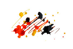 Abstract splashes of watercolor on white background, vector  illustration Royalty Free Stock Image