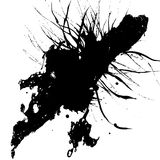 Abstract splatter black color background design Royalty Free Stock Image