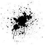 Abstract splatter black color background. illustration design. Stock Images