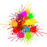Abstract splatter color background and design.illustration . Stock Photos