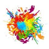Abstract splatter color background. illustration d. Esign stock illustration