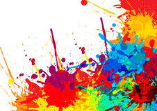 Abstract splatter Color background. illustration  design. Splatter Color background. illustration  design Royalty Free Stock Image