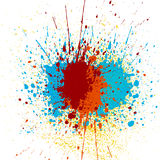 Abstract splatter color background. illustration  design. Vector splatter color background. illustration  design Stock Image