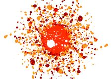 Abstract splatter color design background. illustration. Design Royalty Free Illustration