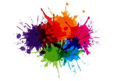 Abstract splatter color design background. illustration vector d. Esign vector illustration