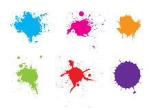 Abstract splatter color pack background. Illustration  design Stock Images