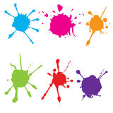 Abstract splatter color paint. Paint splatter set.Vector illustration. Splatter color paint. Paint splatter set.Vector illustration Stock Image