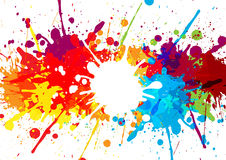 Abstract splatter multi color background. illustration  de. Sign Royalty Free Stock Photography