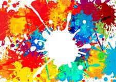 Abstract splatter multi color background. illustration  de Stock Photo