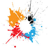 Abstract splatter multicolor design. illustration  design Royalty Free Stock Image