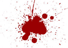 Abstract splatter red color isolate background. Vector splatter red color isolate background Royalty Free Stock Images