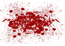 Abstract splatter red color on isolate background. Vector red co Royalty Free Stock Photography