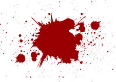 Abstract splatter red color on white color background,isolate Royalty Free Stock Image