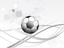 Abstract sport background with grunge. And football vector illustration Royalty Free Illustration
