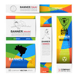 Abstract sport banner for Website Ads Royalty Free Stock Photography