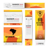 Abstract sport banner for Website Ads Stock Image