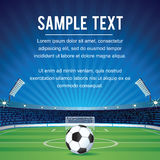 Abstract Sport Soccer Background with Copy Space Stock Image