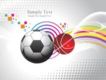 Abstract sports background illustration Royalty Free Stock Images