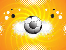 Abstract sports grunge based background. With football vector illustration Stock Photo