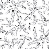 Abstract spot floral seamless pattern. Branch with leaves orname. Ntal background. Nature blot texture Stock Photography