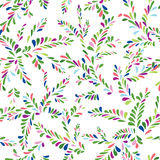Abstract spot floral seamless pattern. Branch with leaves orname. Ntal background. Summer nature decor Stock Photography