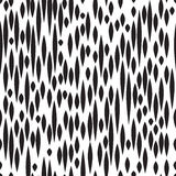 Abstract spot seamless pattern. Black and white texture. Fall st Stock Photo