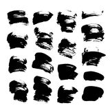 Abstract spots of black paint and ink 2 Stock Image