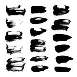 Abstract spots of black paint and ink Royalty Free Stock Photo