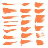 Abstract spots of orange paint Royalty Free Stock Images